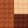 Realistic chocolate bar pattern.