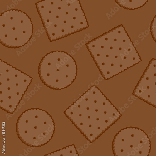 Crispy Crackers seamless texture in brown color.