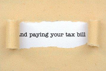 Pay tax bill