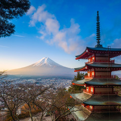 Mt. Fuji viewed from Chureito Pagoda