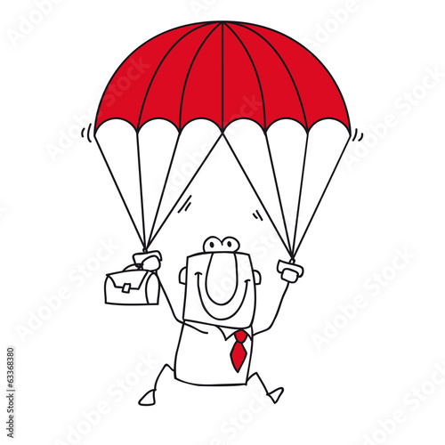 paratrooper businessman
