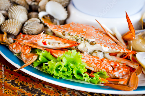 crab seafood dish on the table