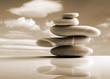stones pile, zen style, sepia color