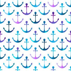 anchor seamless background. Retro pattern of geometric shapes. C