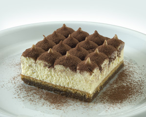 tiramisu, one othe most famous italian sweet food