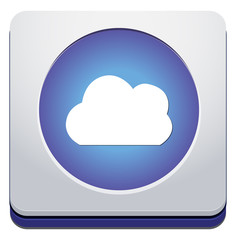 Vector  button with cloud icon