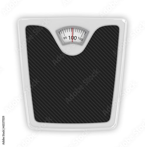 Measuring tape wrapped around bathroom scales