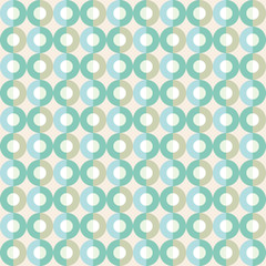 Circle seamless pattern in green tints. Vector illustration.EPS