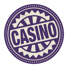 Abstract stamp or label with the text Casino written inside