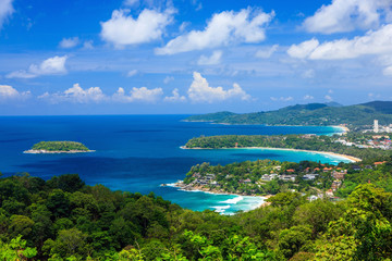 Bird eye view of Phuket viewpoint in Thailand