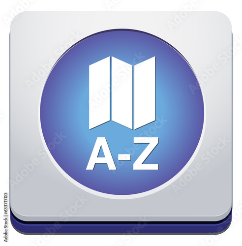 a to z list icon or button
