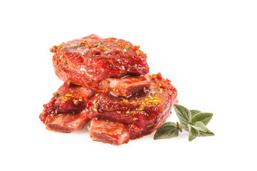 Raw Ribs Meat