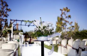Ceremonia en exterior.Decoración de celebraciones