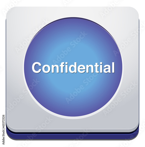 confidential top secret classified private information  button