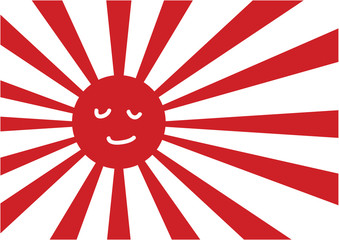 Smiles Japanese navy flag