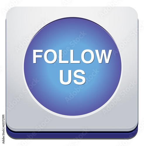 Social media or social network concept follow us button