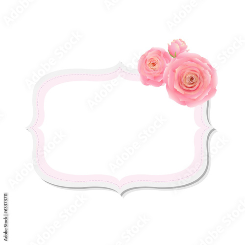 Pastel Pink Rose Label