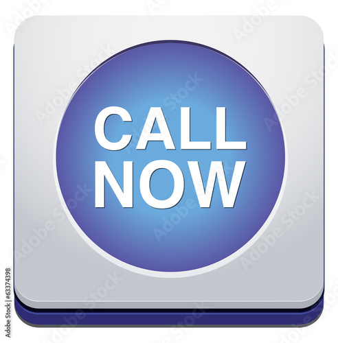 call now web glossy icon on white background