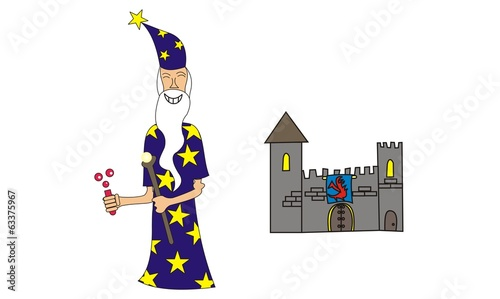 wizard and a castle