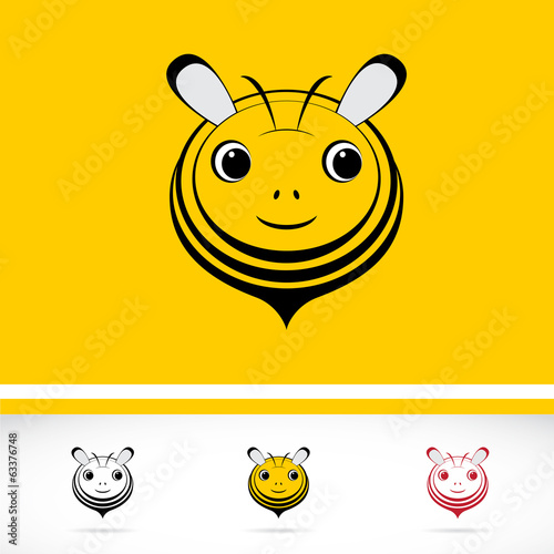 Set of vector bee icons