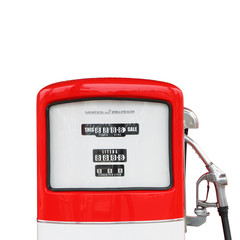 Vintage antique Gasoline fuel pump clipping path
