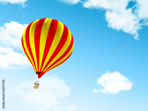 air balloon in clouds