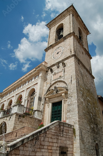 Bell tower square in Norcia