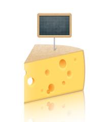 Morceau de fromage et ardoise vectoriels 1