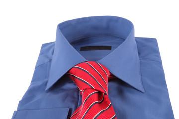 Necktie on a shirt