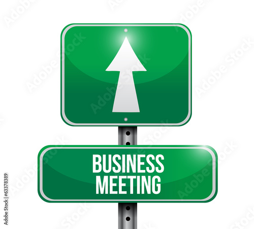 business meeting signpost illustration design