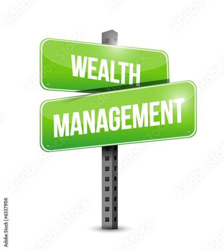wealth management sign illustration design