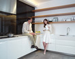 young couple in the kitchen zx