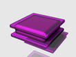 3d colorful square purple