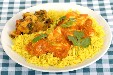 Chicken Madras with Pilau Rice