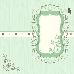 Ornate Banner Floral Green