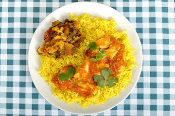 Chicken Madras with Pilau Rice