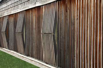 Fragment drewnianej budowli, faktura.