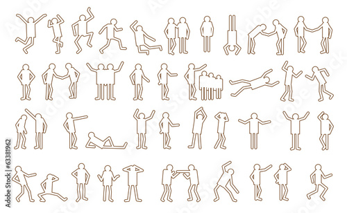 Active people pictograms