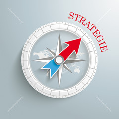 Compass Silver Background Strategie