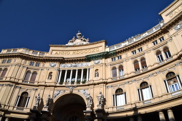 Umberto I gallery in the city of Naples, italy