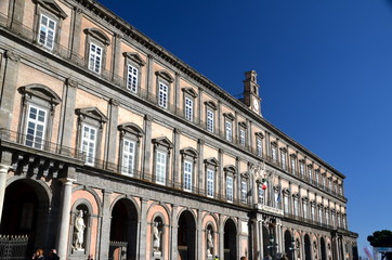 Royal Palace in Piazza del Plebiscito, Naples, Italy