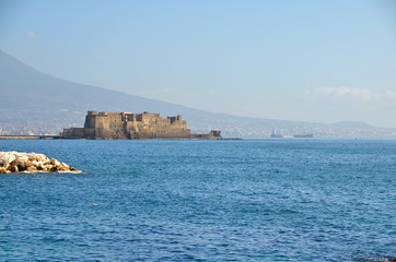 "The historic fortress ""Castel dell'Ovo"" of Naples in Italy"