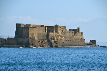 "The Fortress ""Castel dell'Ovo"" of Naples in Southern Italy"