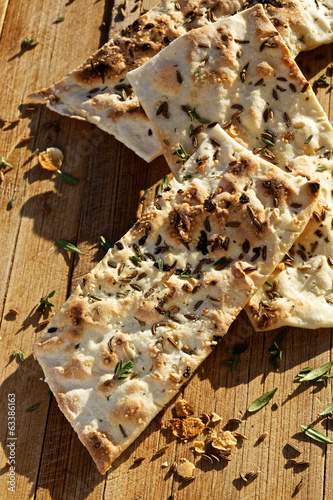 Herbal flat bread