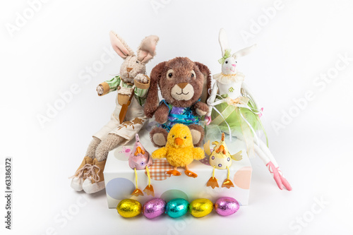 Easter rabbits and spring chickens