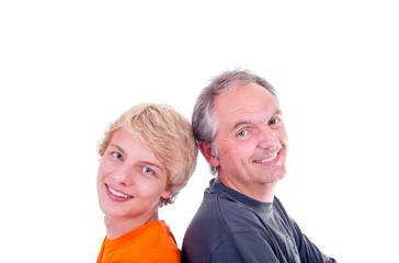 Teenager mit Vater