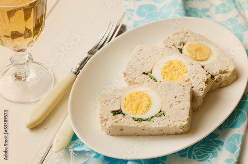 Turkey meatloaf with egg