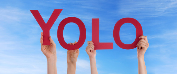 People Holding Yolo in the Sky