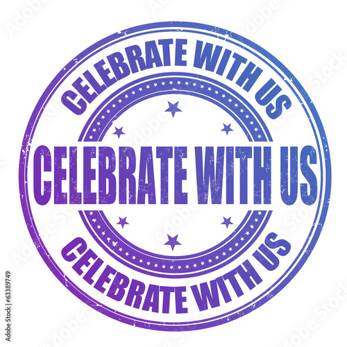 Celebrate with us stamp