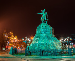 The Bogdan Khmelnitsky monument in Kiev, Ukraine